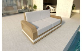 Designer Rattan Lounge Sofa MESIA 2 sitzer V2 von NATIVO™ Designer Möbel Österreich