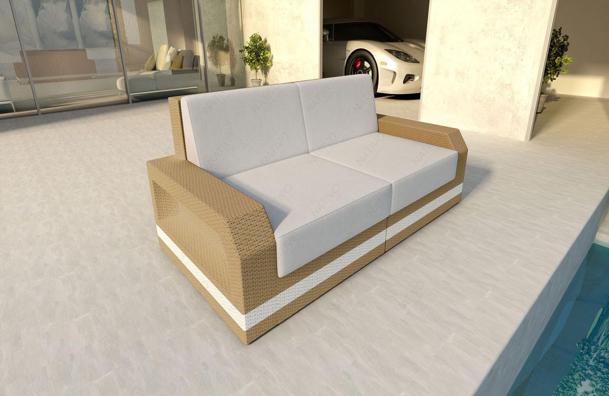 rattan sofa lounge mesia 2 sitzer v2 modular von nativo m bel wien. Black Bedroom Furniture Sets. Home Design Ideas