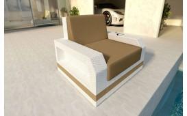 Designer Rattan Lounge Sofa MESIA 1 Sitzer V2
