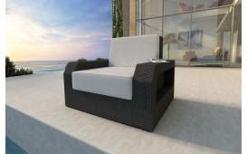 Designer Rattan Lounge Sofa MESIA 1 Sitzer V1