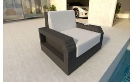 Designer Rattan Lounge Sofa MESIA 1 Sitzer V1 von NATIVO™ Designer Möbel Österreich