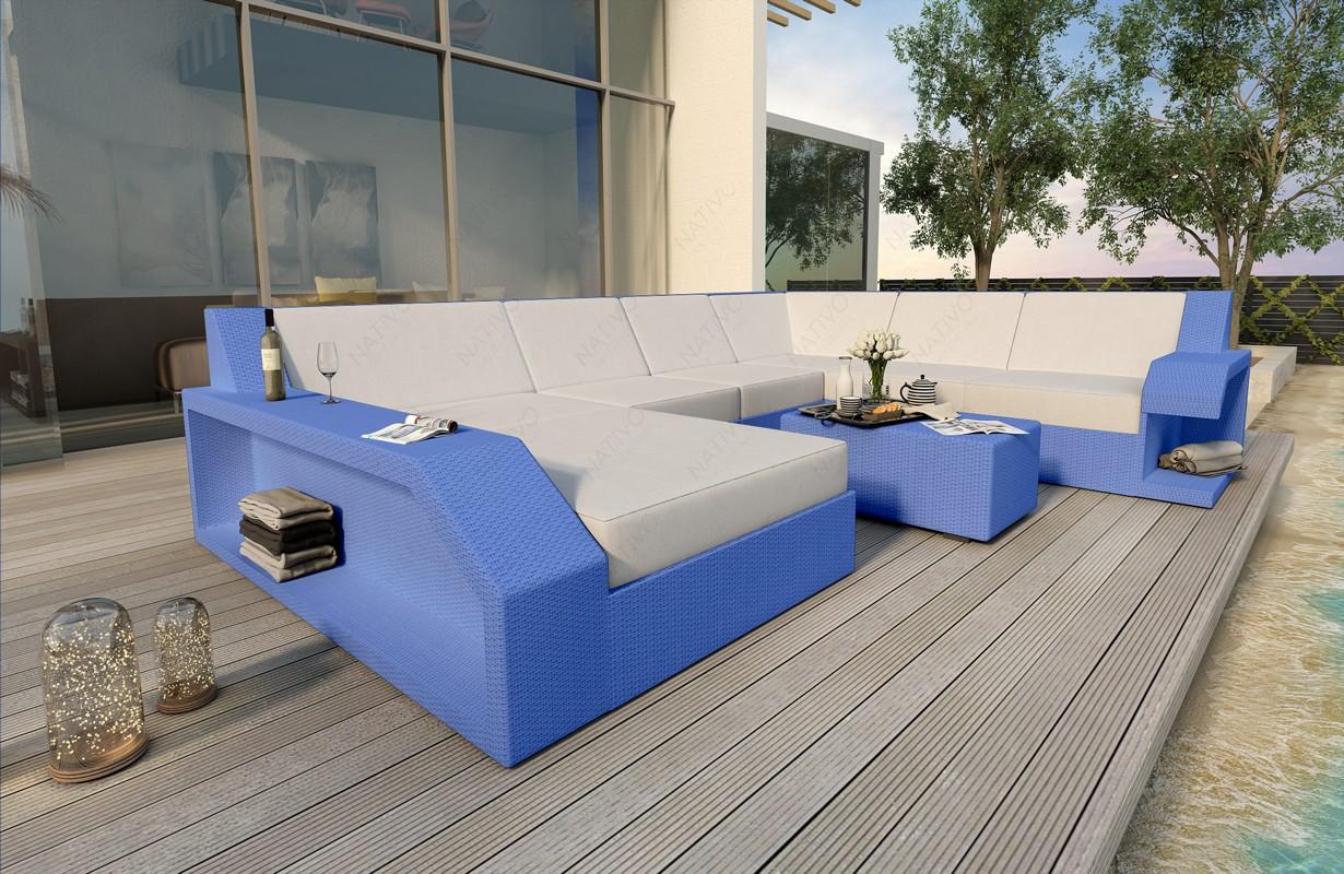 Rattan Sofa Lounge MATIS XXL Modular von NATIVO Möbel WIEN