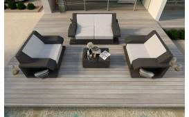 Designer Rattan Lounge Set MATIS 2+1+1