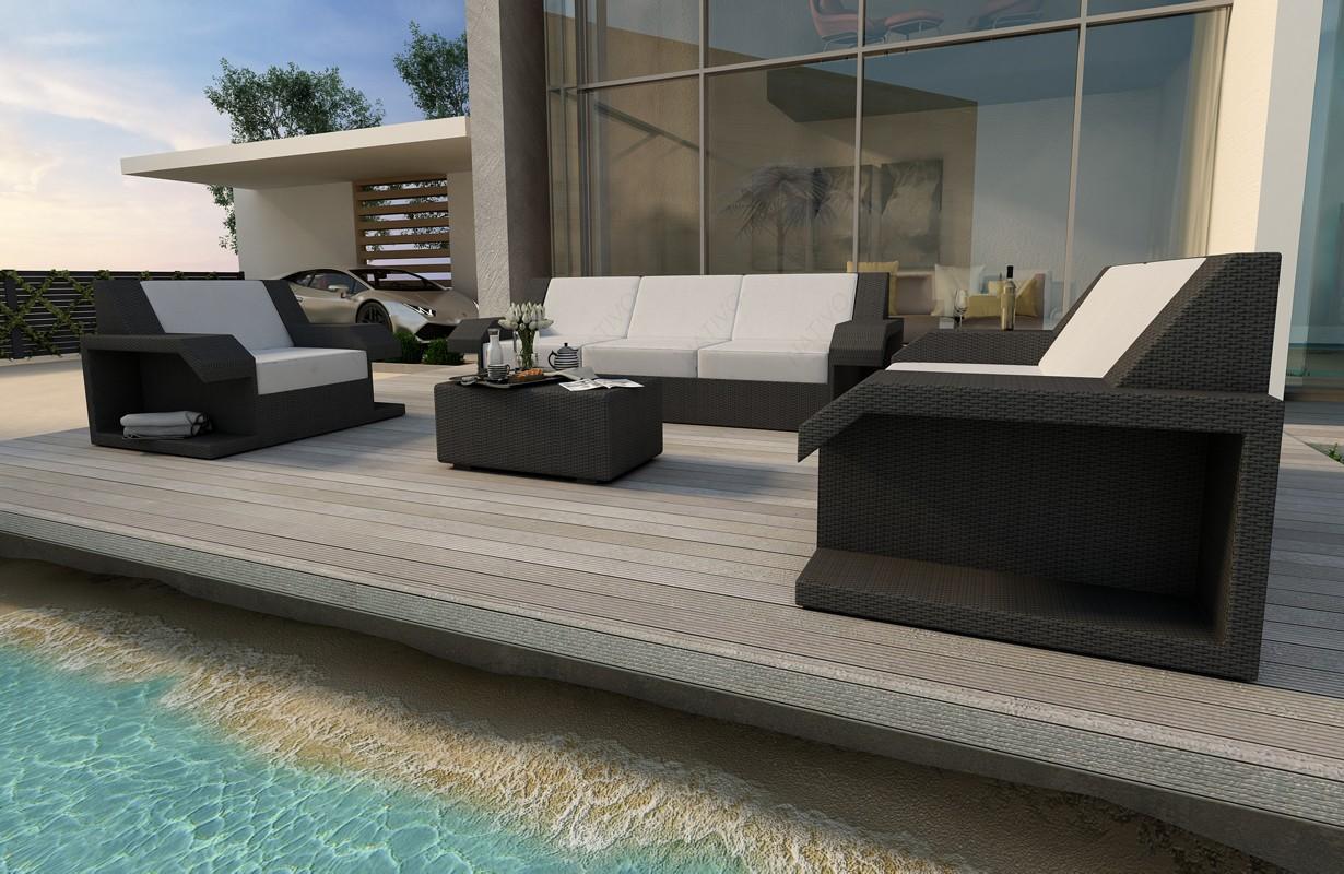 Amazon ingarden modern lounge set weiß für den außenbereich