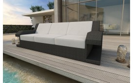 Designer Rattan Lounge Sofa MATIS 3 Sitzer
