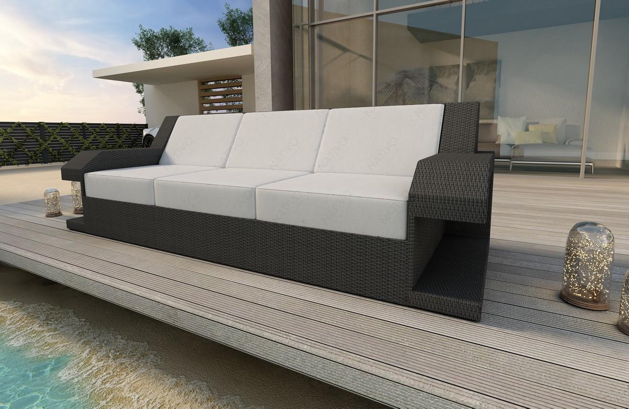 Rattan Sofa Lounge Matis 3 Sitzer Modular Von Nativo Möbel Wien