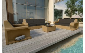 Designer Rattan Lounge Set MATIS 3+2+1