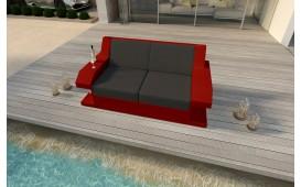 Designer Rattan Lounge Sofa MATIS 2 Sitzer