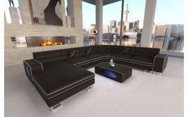 Designer Sofa GREGORY XXL mit LED Beleuchtung