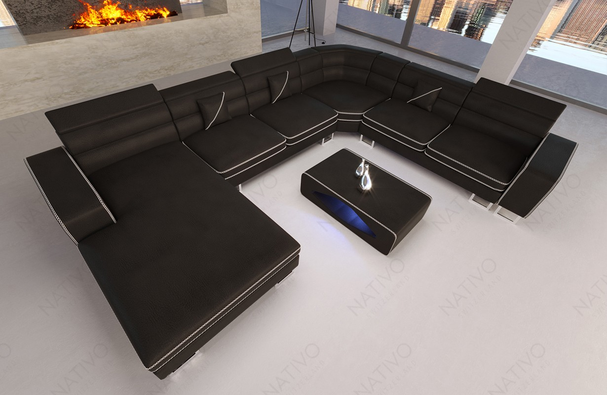 ledersofa gregory xxl bei nativo m bel oesterreich. Black Bedroom Furniture Sets. Home Design Ideas