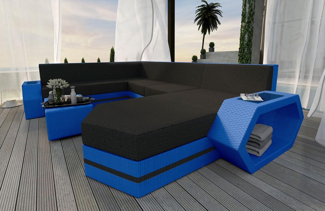Rattan Sofa Lounge CLERMONT XXL V2 Modular von NATIVO Möbel WIEN