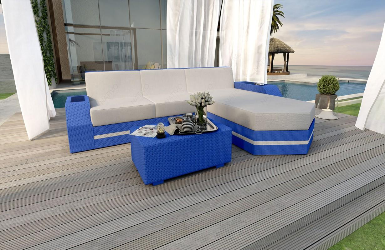 Rattan Sofa Lounge CLERMONT MINI V2 Modular von NATIVO Möbel WIEN