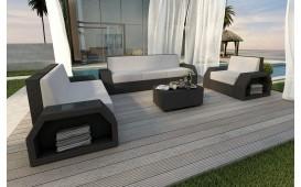 Designer Rattan Lounge Set CLERMONT 3+2+1 V1