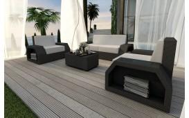 Designer Rattan Lounge Set CLERMONT 2+1+1 V1