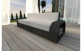 Designer Rattan Lounge Sofa CLERMONT 3 Sitzer V1