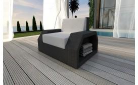 Designer Rattan Lounge Sofa CLERMONT 1 Sitzer V1