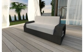 Designer Rattan Lounge Sofa CLERMONT 2 Sitzer V1