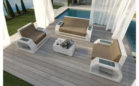 Designer Rattan Lounge Set CLERMONT 2+1+1
