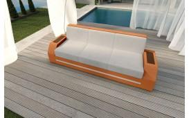 Designer Rattan Lounge Sofa CLERMONT 3 Sitzer
