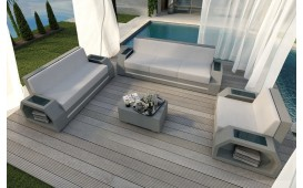 Designer Rattan Lounge Set CLERMONT 3+2+1