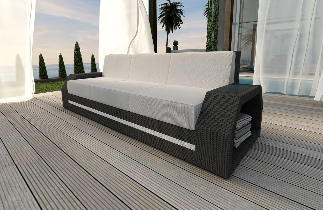 Rattan sofa lounge clermont 3 sitzer modular von nativo for Lounge mobel 2 sitzer