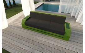 Designer Rattan Lounge Sofa CLERMONT 3 Sitzer V2 von NATIVO™ Möbel Österreich