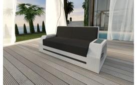 Designer Rattan Lounge Sofa CLERMONT 2 Sitzer V2