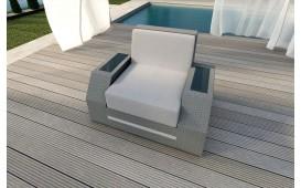 Designer Rattan Lounge Sofa CLERMONT 1 Sitzer V2