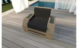 Designer Rattan Lounge Sofa CLERMONT 1 Sitzer V2 von NATIVO™ Möbel Österreich