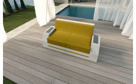 Designer Rattan Lounge Sofa CLERMONT 2 Sitzer V2 von NATIVO™ Möbel Österreich