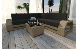 Designer Rattan Lounge Sofa CLERMONT CORNER V2 von NATIVO™ Möbel Österreich