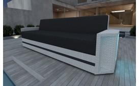 Designer Rattan Lounge Sofa AVENTADOR 3 Sitzer