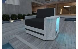 Designer Rattan Lounge Sofa AVENTADOR 1 Sitzer