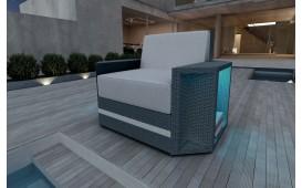 Designer Rattan Lounge Sofa AVENTADOR 1 Sitzer V2 von NATIVO™ Designer Möbel Österreich