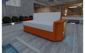 Designer Rattan Lounge Sofa AVENTADOR 2 Sitzer V1 von NATIVO™ Designer Möbel Österreich