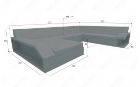 Designer Rattan Lounge Sofa MATIS XXL von NATIVO™ Designer Möbel Österreich