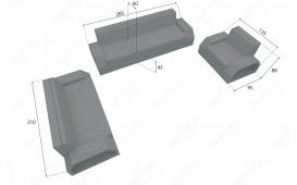Designer Rattan Lounge Set CLERMONT 3+2+1 V2 von NATIVO™ Designer Möbel Österreich