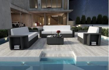 Designer Rattan Lounge Set AVENTADOR 3+2+1 V1 von NATIVO™ Designer Möbel Österreich
