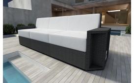 Designer Rattan Lounge Sofa AVENTADOR 3 Sitzer V1