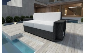 Designer Rattan Lounge Sofa AVENTADOR 2 Sitzer V1
