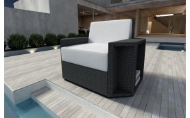 Designer Rattan Lounge Sofa AVENTADOR 1 Sitzer V1