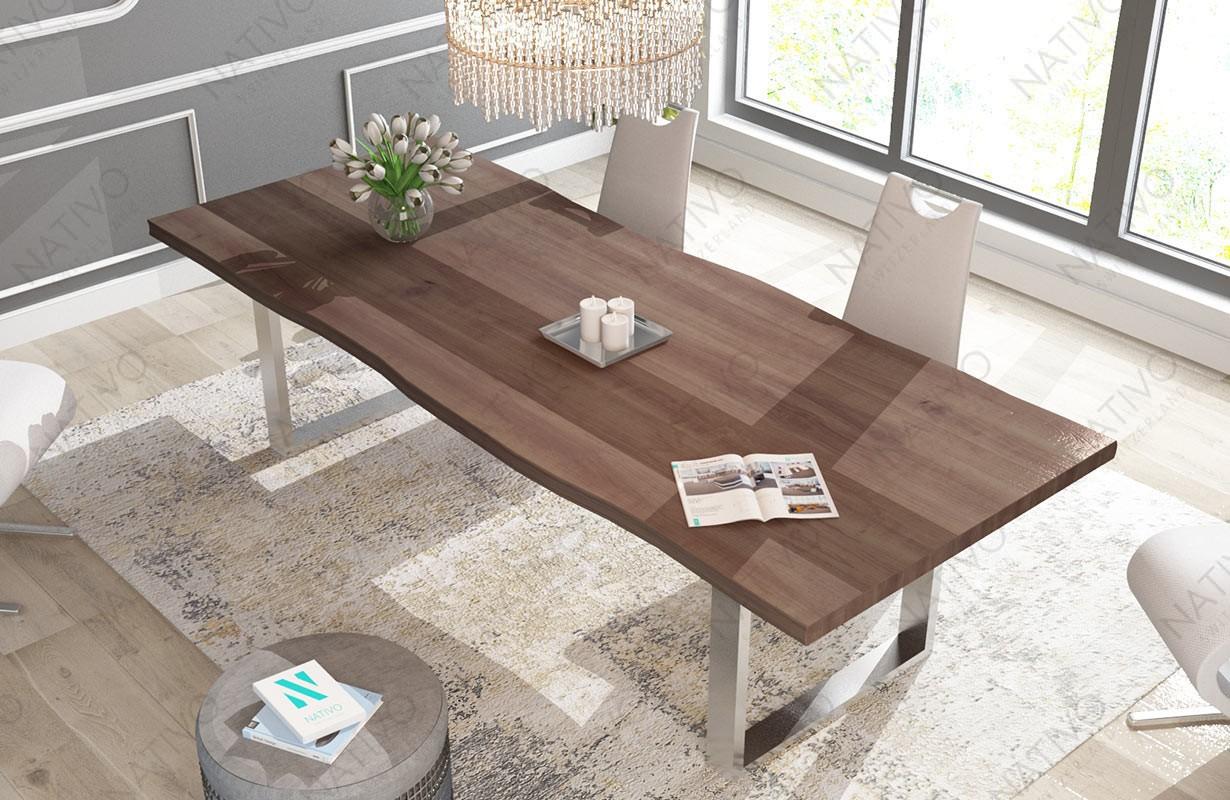 esstisch marlin v 3 aus massivholz von nativo designer. Black Bedroom Furniture Sets. Home Design Ideas