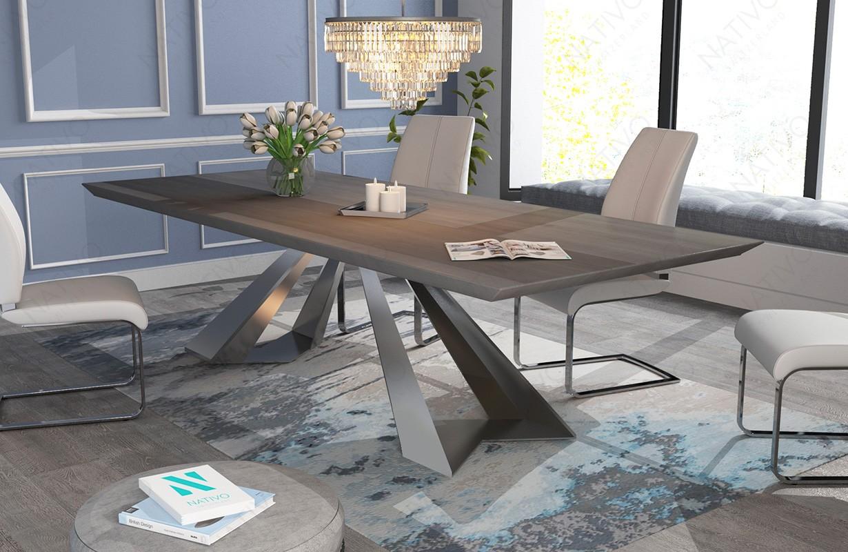 Design Esstisch esstisch camelot v 2 aus massivholz bei nativo möbel wien günstig kaufen