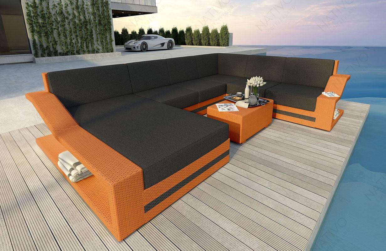 Rattan Sofa Lounge MIRAGE XXL Modular von NATIVO Möbel WIEN