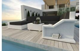 Designer Rattan Lounge Sofa MIRAGE XXL v1 von NATIVO™ Designer Möbel Österreich