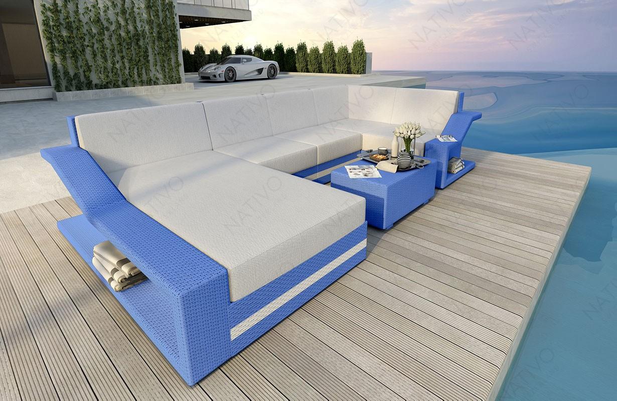 Rattan Sofa Lounge MIRAGE XL V2 Modular von NATIVO Möbel WIEN
