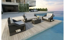 Designer Rattan Lounge Set MIRAGE 2+1+1 V1