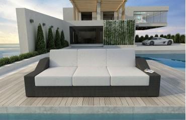 Designer Rattan Lounge Sofa MIRAGE 3 Sitzer V1 von NATIVO™ Möbel Österreich