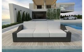 Designer Rattan Lounge Sofa MIRAGE 3 Sitzer V1