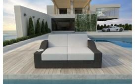 Designer Rattan Lounge Sofa MIRAGE 2 Sitzer V1